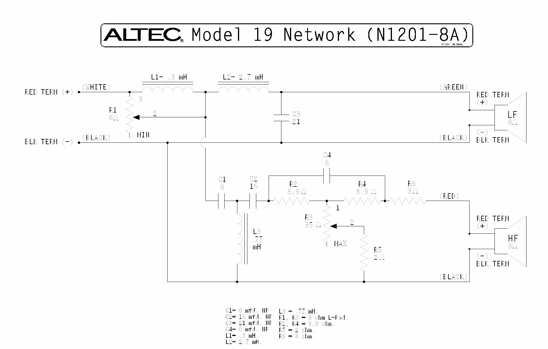 Vintage Altec Model 19 Networkn1201