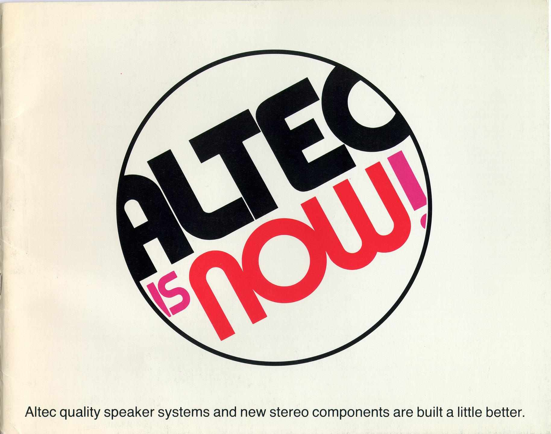 Altec Lansing 1971 Catalogue